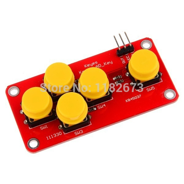 Back To Search Resultstools Ad Keyboard Electronic Blocks Simulate Five Key Module Analog Button For Arduino