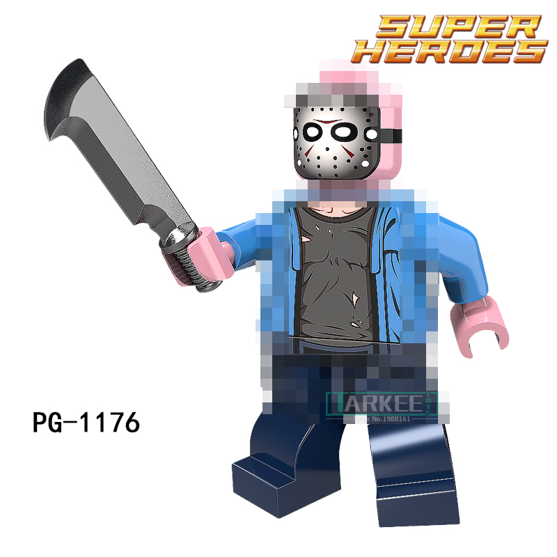 Single Sale Building Blocks PG1176 Jason Voorhees Super Heroes Model Toys Hobbies PG8102 Children Gift Bricks Marvel DIY Figure super heroes single sale the villain of yellow lantern skeletor heman he man he man building blocks toys for children gift kf921