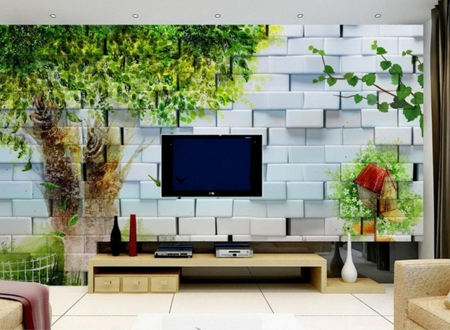 Custom 3d wall murals hand painted big tree beautiful 3d stereoscopic photo wallpaper tv background wallpaper
