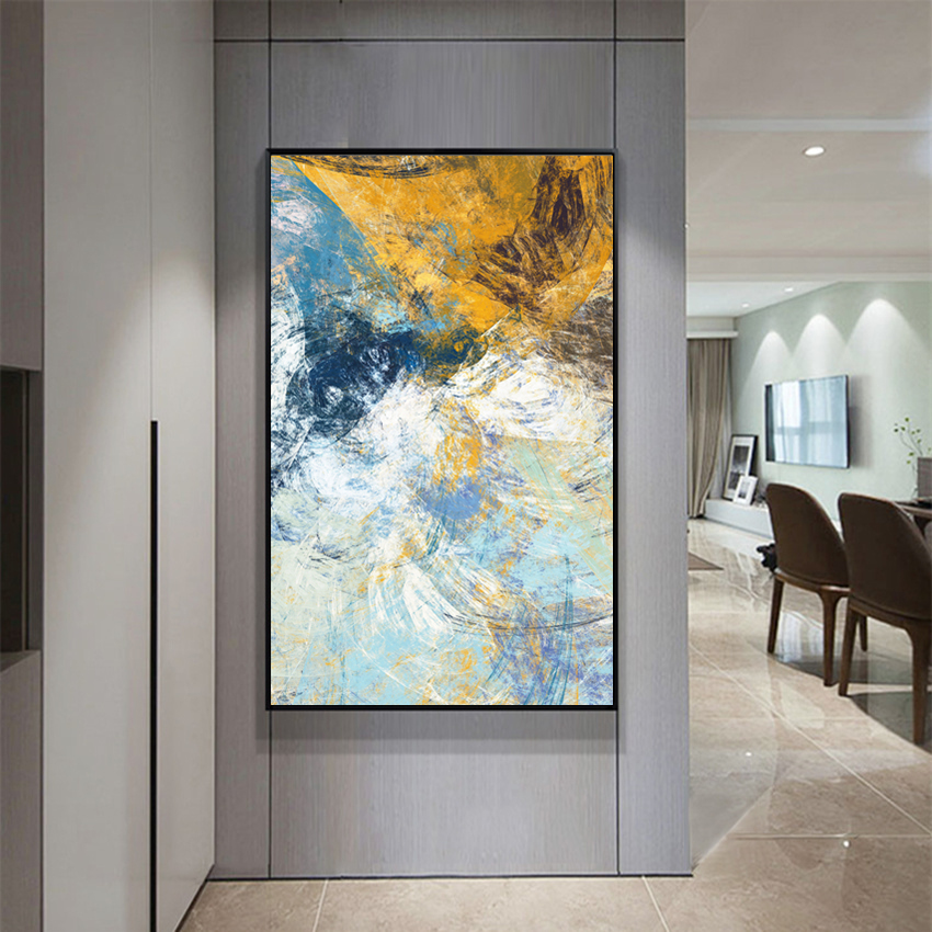 Us 12 24 28 Off Modern Abstract Art Deco Oil Painting On Canvas Wall Art Picture Home Decor Living Room Impressionism Paintings In Painting