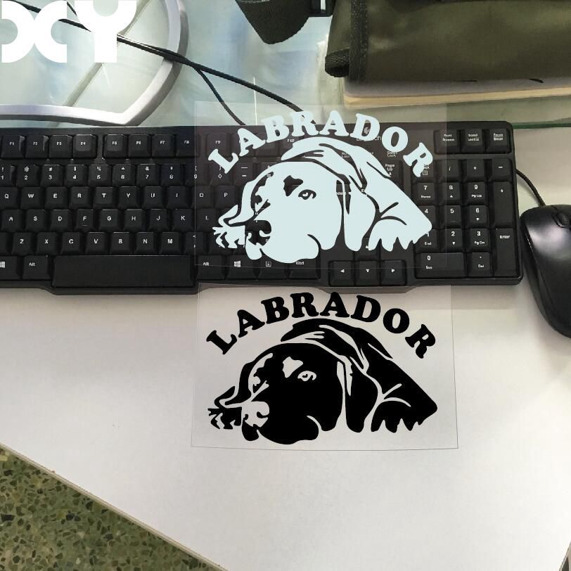 цена на High Quality motorcycle Stickers Decals Car styling Reflective Type Car stickers Labrador Stickers For Car Bumper Accessories