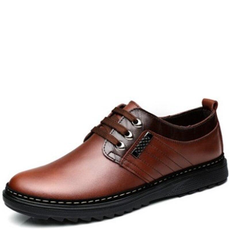 Nueva llegada para hombre zapatos de vestir de tamaño 9 de los hombres de cuero