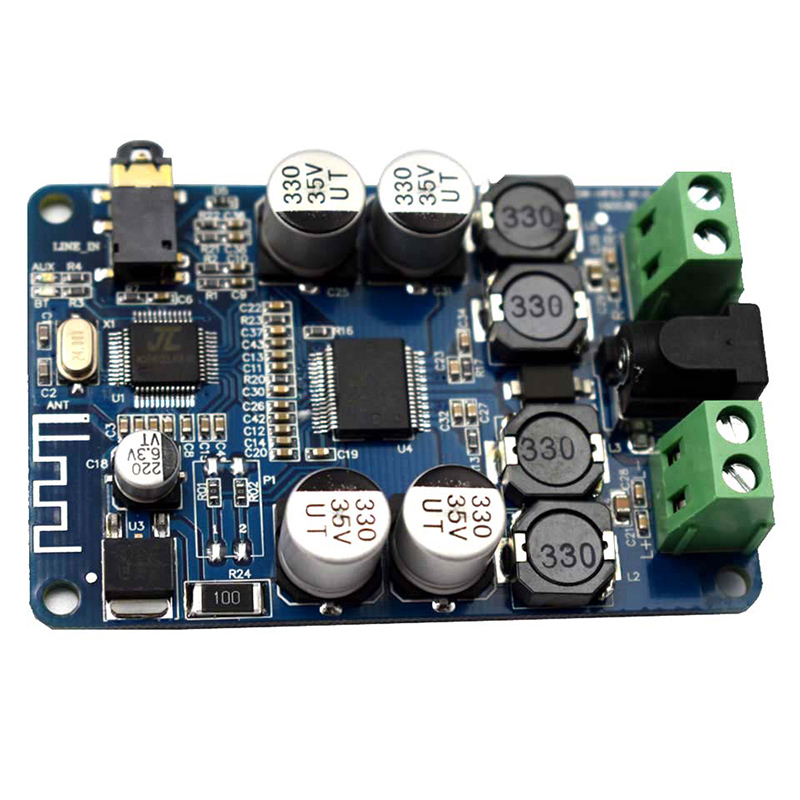 TDA7492P 2*25W Bluetooth V2.1 Audio Receiver Amplifier Module AUX Interface