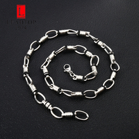 Strong Heavy Weight Men S Stainless Steel Necklace Chain Mens Oval Chain Necklace Large Statement 24