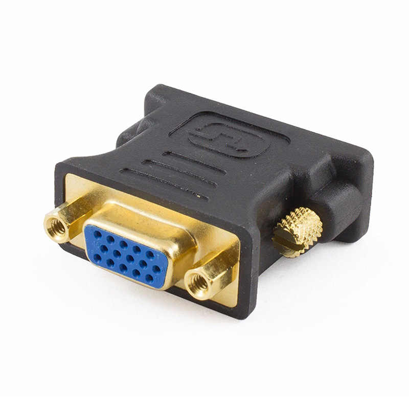24 + 5Pin DVI to VGA Adapter Digital to Analog DVI-I PC TFT Beamer Plug Socket Converter UY8