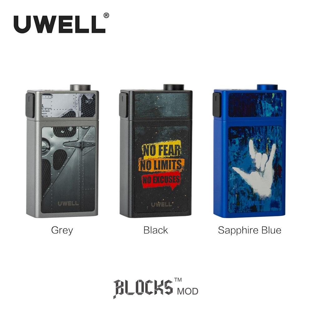 En Stock!!! UWELL bloque Squonk Mod 18650 batterie 90 W 15 ml étanche 510 connecteur Mods de cigarettes électroniques