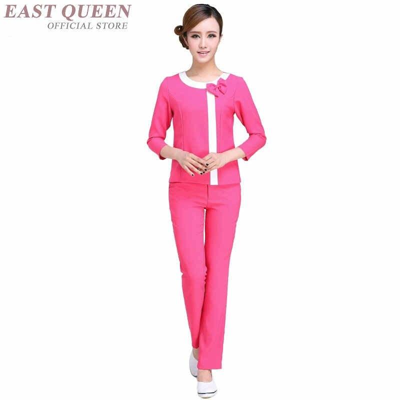 Kadın Spa thai masaj şevval özçelik üniforma güzellik salonu garson güzel üniformaları pantolon takım elbise tıbbi giyim DD1382