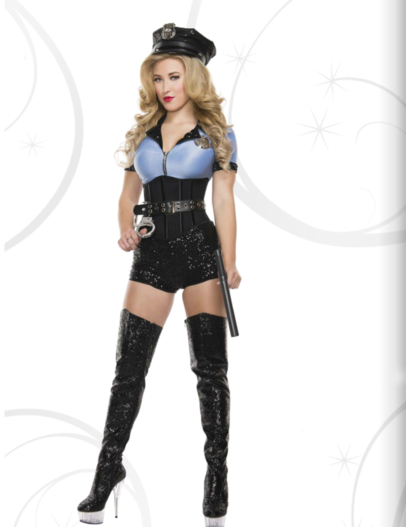 keshiwei new ladies police fancy halloween costume sexy cop outfit woman cosplay sexy erotic lingerie police - Halloween Costumes Prices
