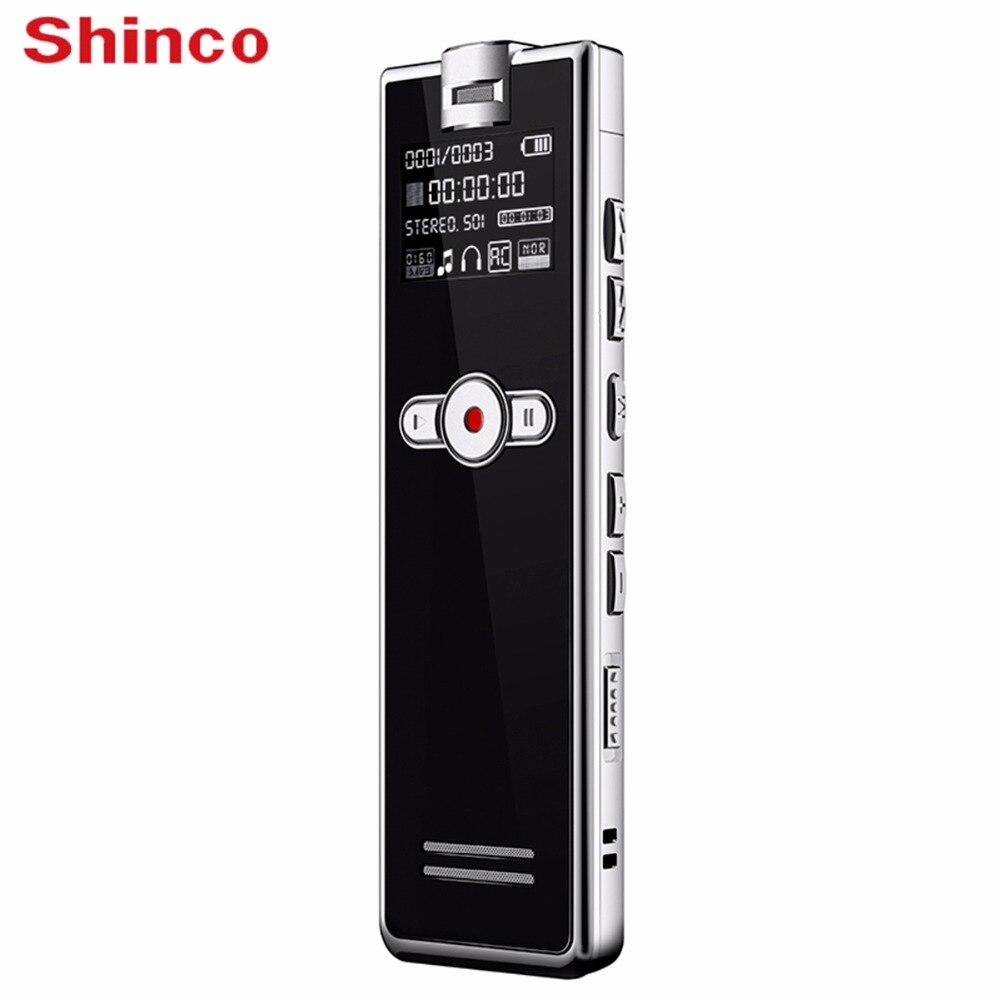 Shinco F2 32 ГБ Цифровой Аудио Голос Регистраторы Шум Шумоподавления Профессиональный Диктофон Телефон Регистраторы mp3 плеер