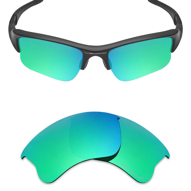 ea40f1cbecd Mryok+ POLARIZED Resist SeaWater Replacement Lenses for Oakley Flak Jacket  XLJ Sunglasses Emerald Green