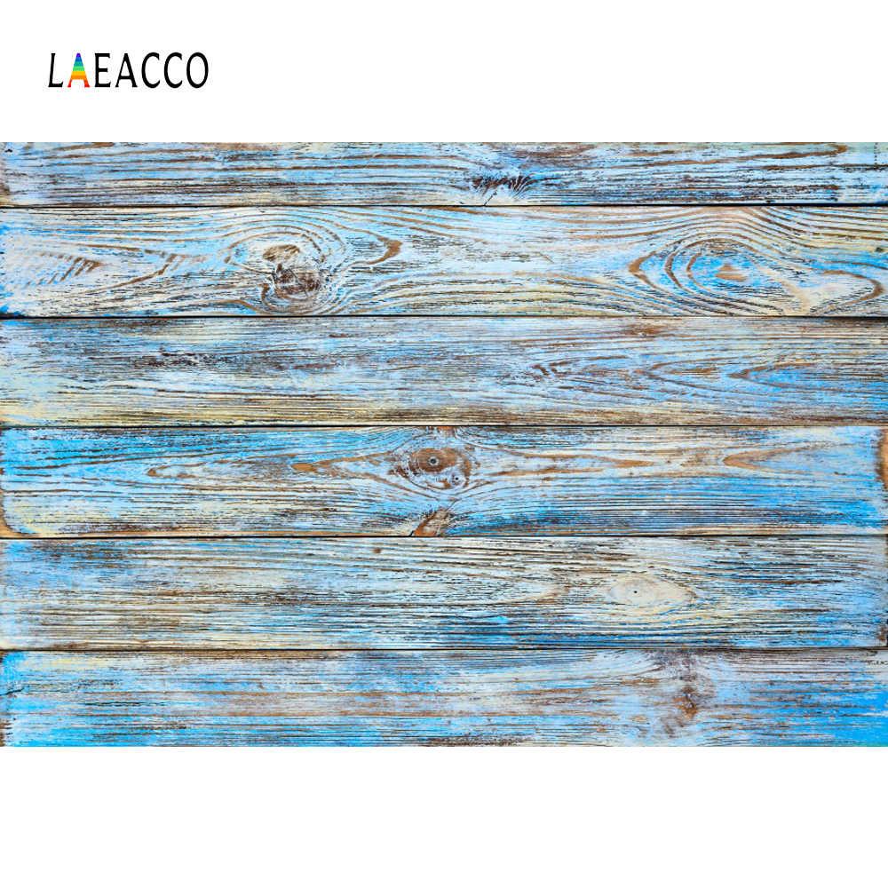 Laeacco bois dur bleu fondu Texture planche planche en bois Pet Portrait Photo arrière-plan photographie fonds Photocall Photo Studio