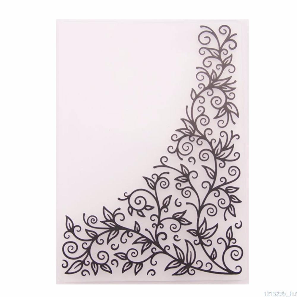 Lace Flowers Floral Plastic Embossing Folder for Scrapbook DIY Album Card Too#91