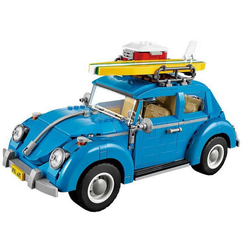 21003 LEPIN City Street Creators Volkswagen Beetle Model Building Blocks Enlighten DIY Figure Toys For Children Compatible Legoe 1700 sluban city police speed ship patrol boat model building blocks enlighten action figure toys for children compatible legoe