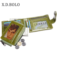 X.D.BOLO 2018 Leather Women Wallet Hasp Coin Pocket Purse Women Wallets Cards Holders Luxury Brand Wallet for Ladies