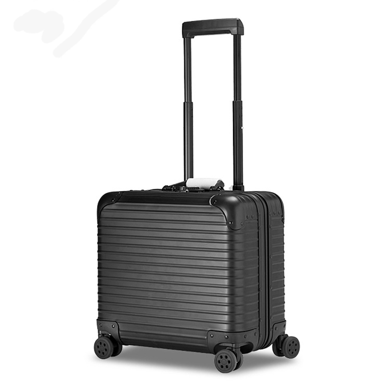 16/18 inches Aluminum Rolling Luggage Boarding Spinner Wheel Suitcase valise Travel Trolley mala de viagem koffer