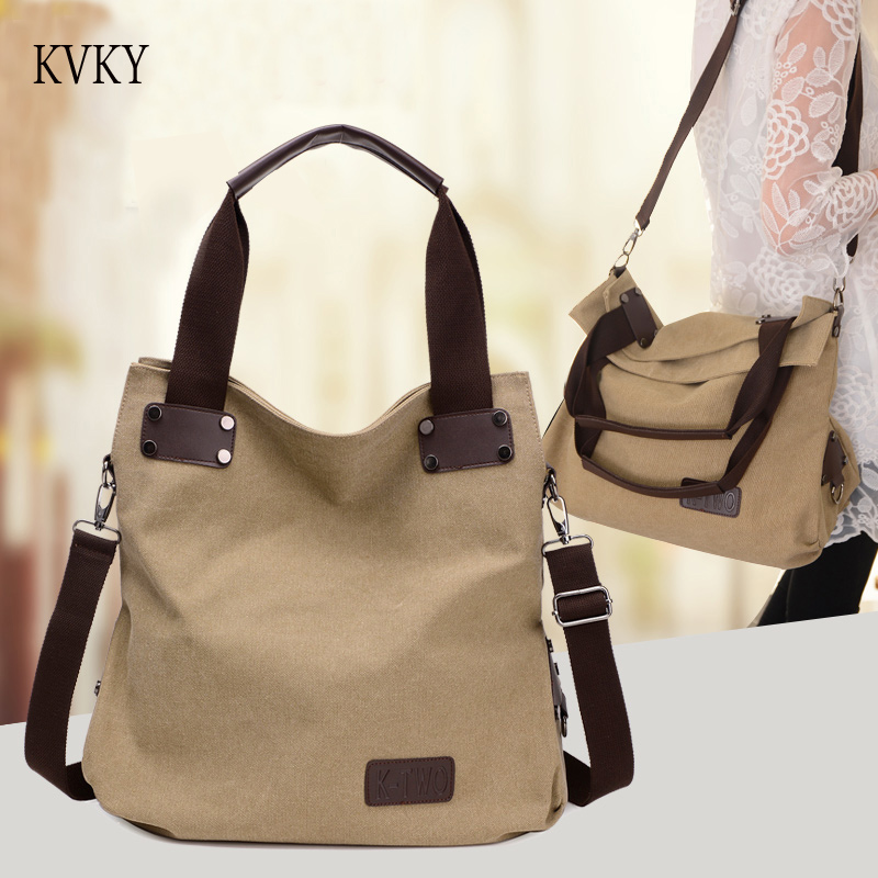 2018 New Fashion Women Bag Canvas Brand Handbags Messenger bags Female Shoulder Bags Hig ...