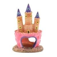 Aquarium Ornaments Pink Princess Castle Fish Hole Aquarium Decorated Aquarium Decoration