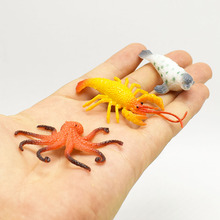 Simulation 12 different kinds Mini ocean sea Dolphin seal penguin Model life Action Figure Toy for kid gift