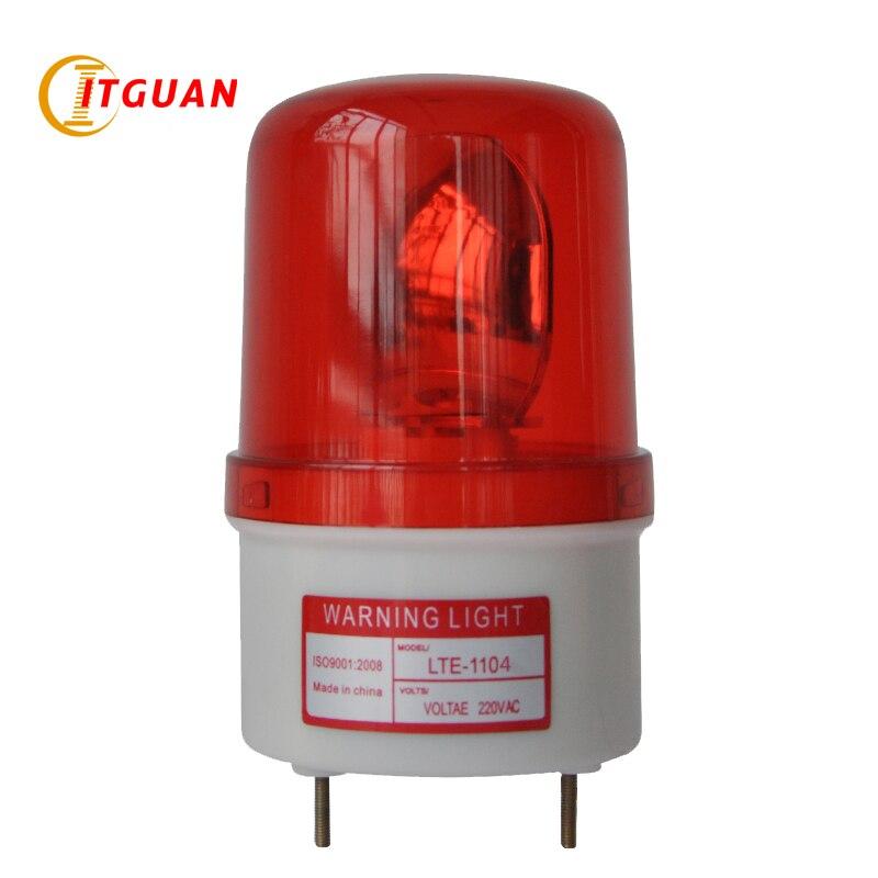 LTE-1104 Warning Light DC/AC12V/380V Rotary Warning Lamp Alarm Indicator Firemen Police Industrial Emergency Strobe Light ltd 5071 dc12v warning light emergency strobe light warning light