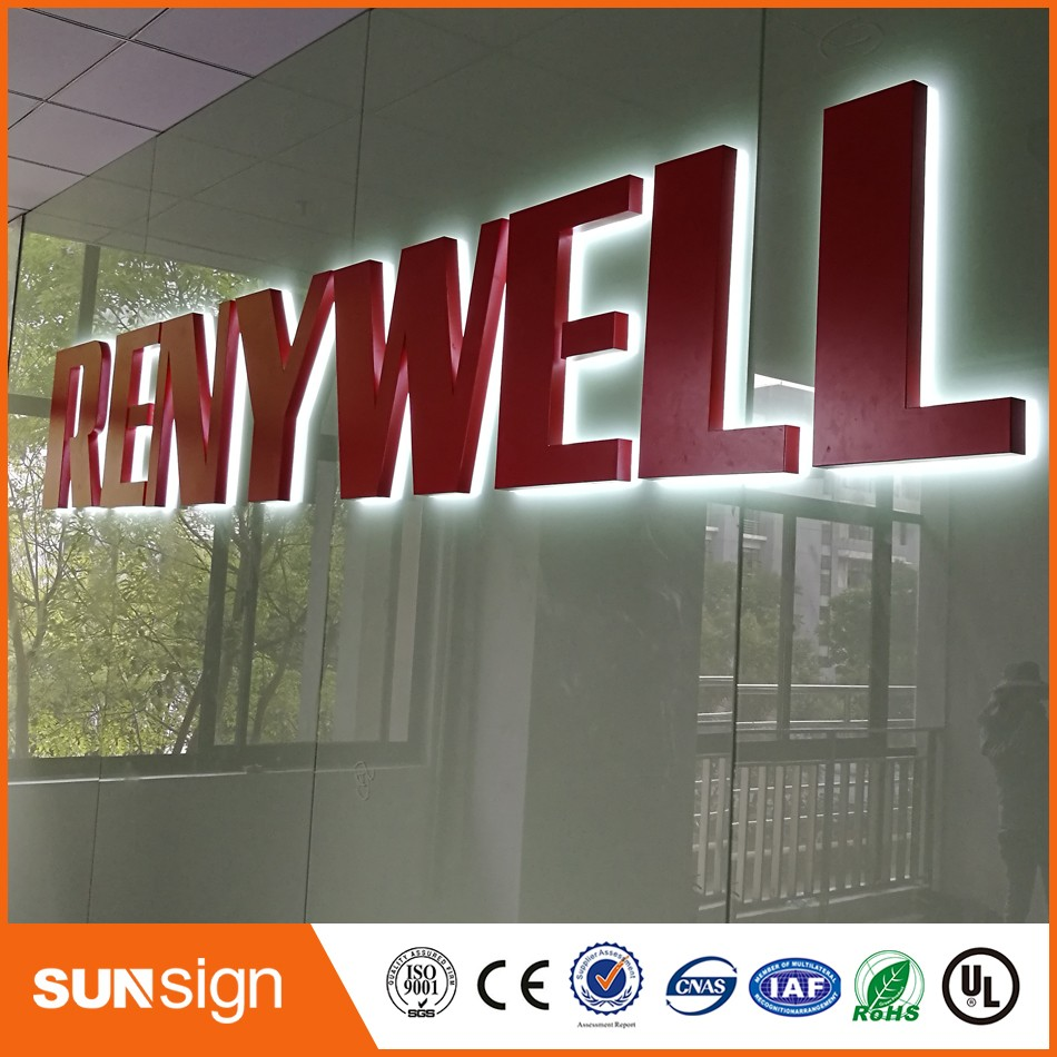 High Quality Advertising Backlight LED Metal Sign High Quality Illuminated Sign