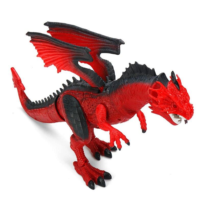 ABS Télécommande RC Dragon Marche Dinosaure Lumières et Sons Kid Pet Jouet Animal Drôle Cadeau pour Enfants Tête Ailes En Mouvement Sonore