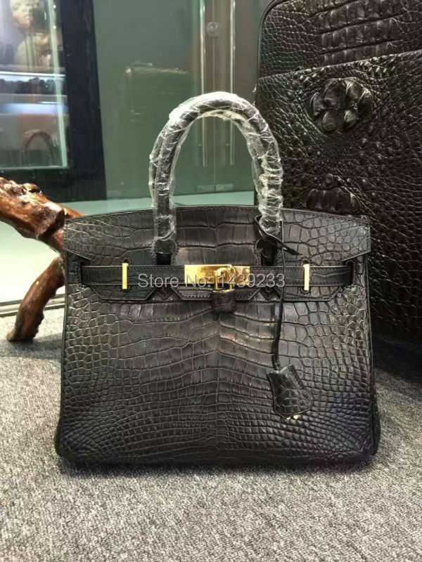 100% Real/Genuine Crocodile Skin Belly parts Womens Tote Handbag, alligator skin lady tote black customized production service цена