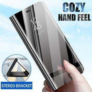 Image 1 - Étui pour Sony Xperia 1 5 XZ3 étui miroir intelligent vue claire en cuir PU béquille couverture rabattable pour Sony Xperia XZ3 Xperia 5 1 étui