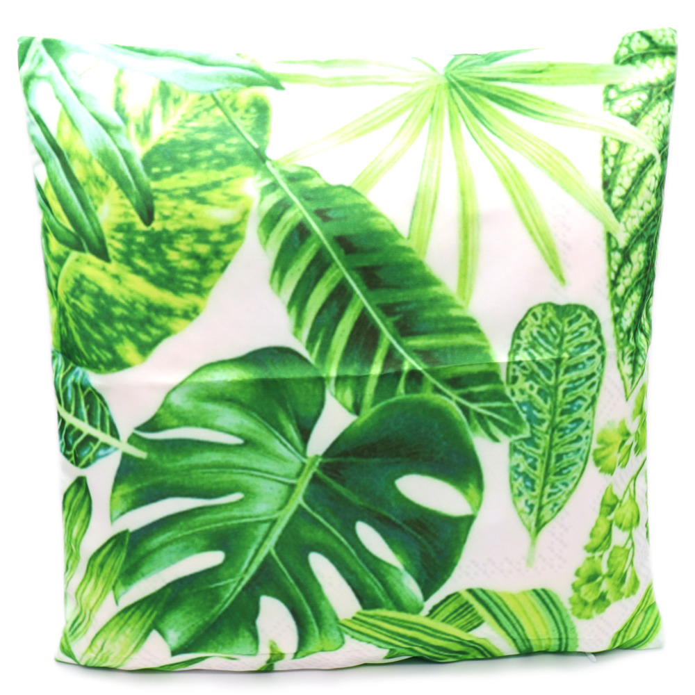 Plant green leaf Cushion Cover pillow small fresh style pillow Linen Pillow Cases Chair/Car/Sofa Pillow Cover Home Decorative