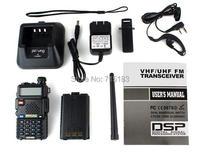 Original 2pcs Baofeng UV5R Radio Pofung UV 5R 5W FM Radio 128CH VHF+UHF VOX Dual Band walkie talkie for car