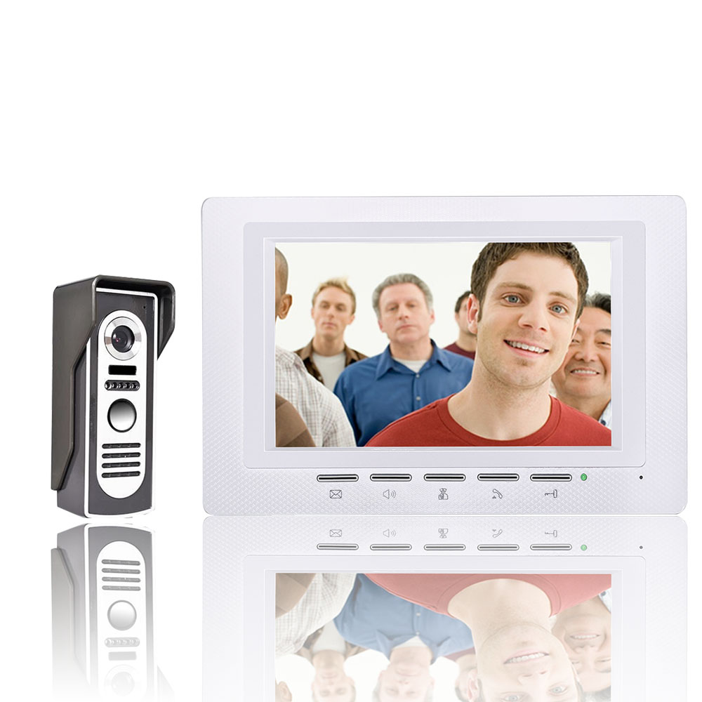 Здесь продается  FREE SHIPPING 7 Inch Video Door Phone Doorbell Intercom Kit 1-camera 1-monitor Night Vision  Безопасность и защита