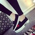 Slipony женская обувь 2016 новый кожаный высота увеличение женские женские лифт повседневная обувь горячие продажа