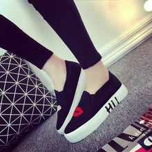 slipony women footwear 2016 new leather height increase female women's elevator casual shoes hot sale