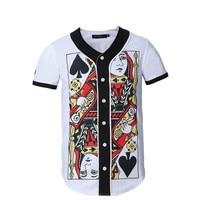 Summer Man Designer Shirt 3d Poker Cardigan Shirt Harajuku Mens t shirts Hip Hop Camiseta Funny Playing Cards t shirt Plus Size