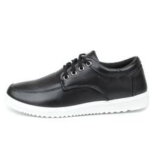 Walking Breathable Shoes Men's Fashion Casual Shoes Men Luxury Brand Man Lace Up Round Toe Casual Leather Shoes Size 7-9.5
