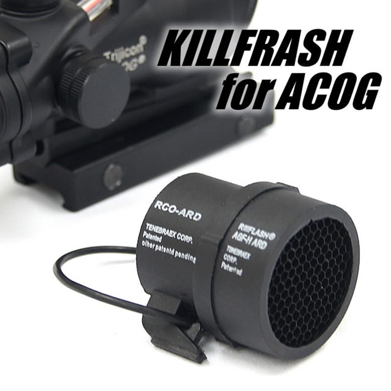 CQC Airsoft Tactical ACOG Killflash 4X32 ACOG Scope Protector Cover Cap Anti-Reflection Device