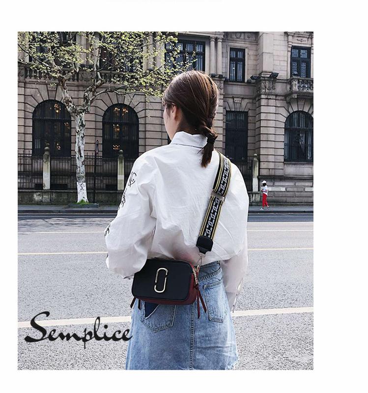 luxury high quality lady colorful handbag brander new woman small cross body bag hit color black and white girl shoulder bag