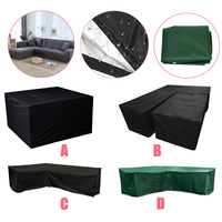 Outdoor Garden Furniture Cover Waterproof L Shape Furniture Cover Sofa Rain Dust Cover Wicker Sofa Set Protection Cover Cloth