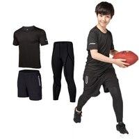 3pcs Kids Compression Running Set Pants Shirts boys clothing Children Sport Suit Sportswear Soccer basketball Rugby jerseys