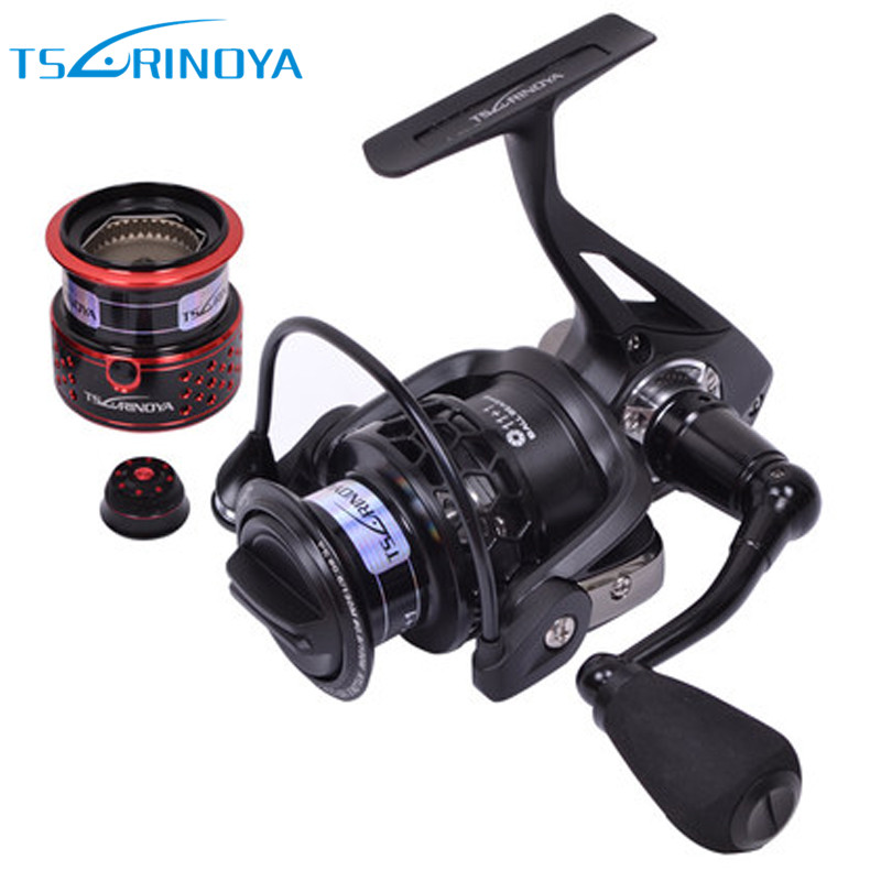 Tsurinoya TSP2000 Spinning Fishing Reel With Spare Spool 11+1BB/ 5.2:1 Full Metal Jig Boat Lure Reels Carretes Pesca Molinete tsurinoya spinning fishing reel 9bb 5 2 1 full metal 2000 5000size ocean boat lure reels carretes pesca molinete fishing wheel