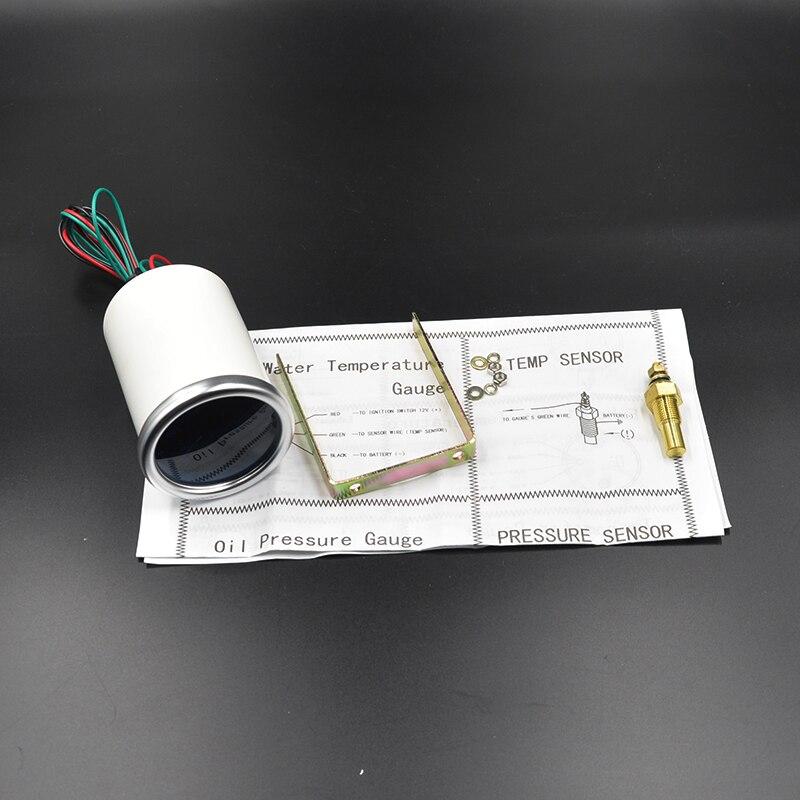 Dragon gauge Универсальный 52 мм Автомобильный указатель температуры масла метр Датчик температуры масла модификация белая подсветка