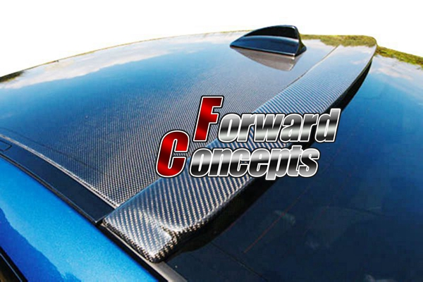FOR CARBON FIBER 08-12 <font><b>COROLLA</b></font> NZE141 JDM REAR WING WINDOW ROOF <font><b>SPOILER</b></font> image