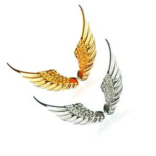 1 пара 3D стерео металлические Крылья Ангела украшения наклейки для автомобилей значок эмблема хром авто наклейка автомобиля 3d большие крылья автомобиля стикер