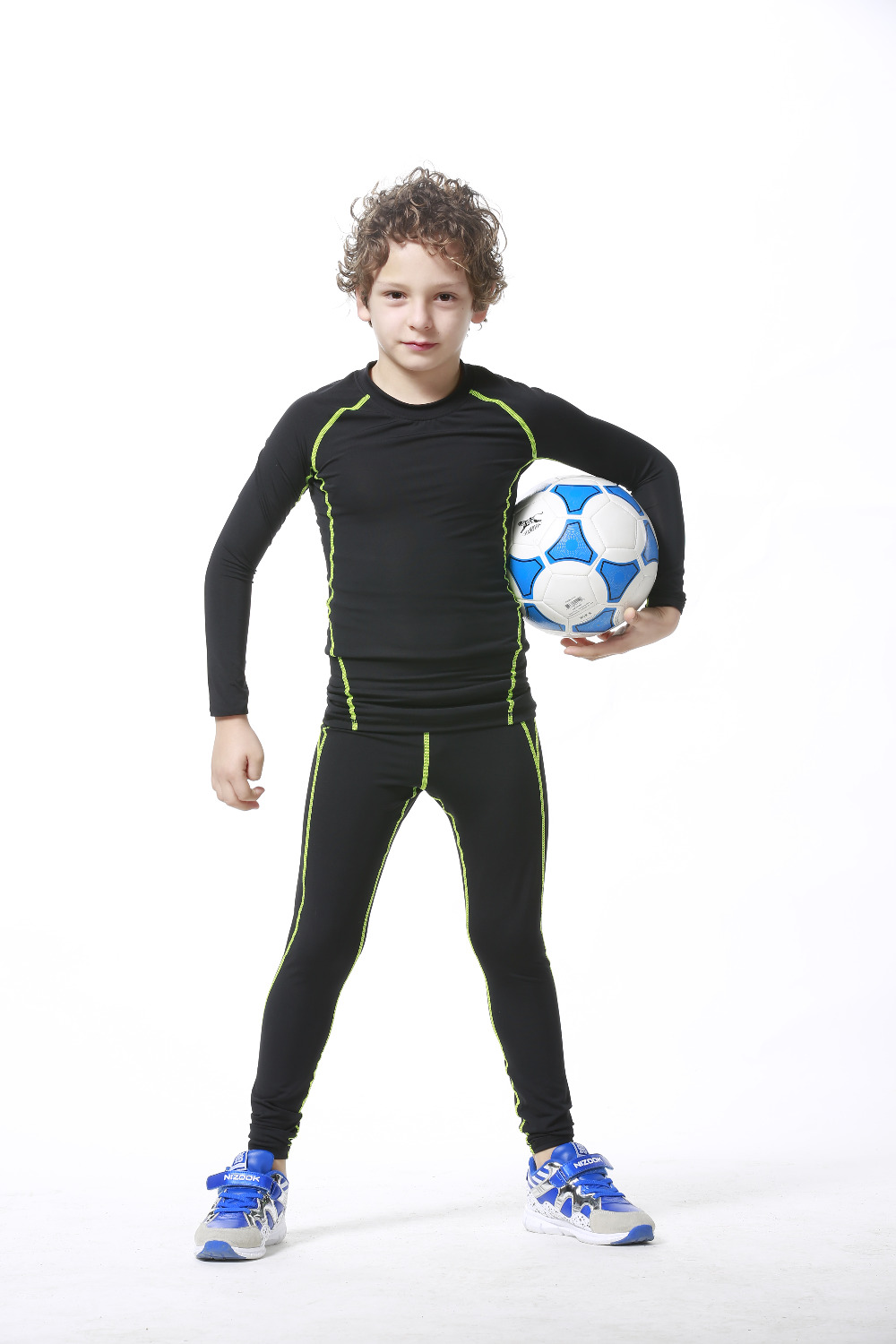 Kids Running tight pants boys Compression Leggings Base Layer Fitness Jogging Trousers children ...