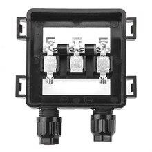 1 pieces ip65 impermeável caixa de conexão de junção solar para o painel solar 50 w 100 w