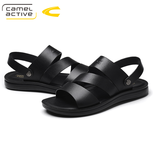 Camel Active NEW Men Summer Genuine Leather Fashion Sandals Male Sandalias Beach Shoes Summer Breathable Cow Leather Men Shoes
