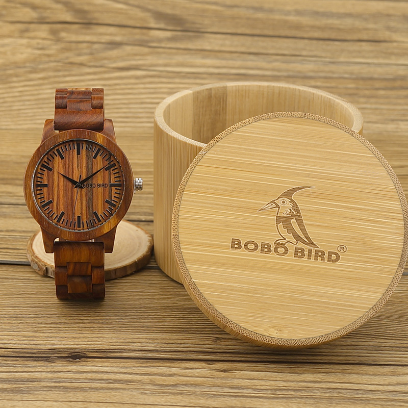 2017 New Design Luxury BOBO BIRD Brand Men Watches Wooden Band Quartz Wood Watch Wrist Watch with Gift Box Male Relogio C-M10 bobo bird men s ebony wood design watches with real leather quartz watch for men brand luxury wooden bamboo wrist watch