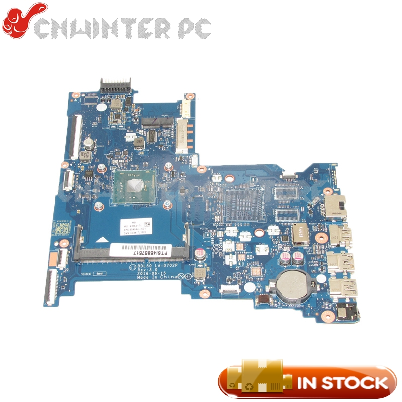 NOKOTION 854944-601 854944-001 For HP 250 G5 Laptop Motherboard BDL50 LA-D702P DDR3 With Processor onboard haoshideng 854944 601 854944 001 mainboard for hp 250 g5 laptop motherboard bdl50 la d702p 854944 001 all functions fully tested