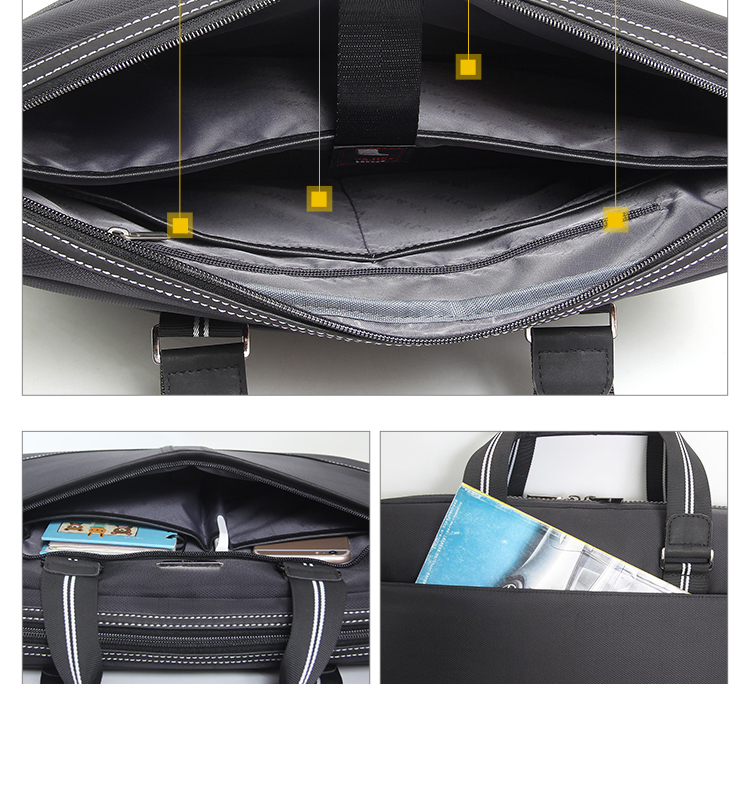 HTB1hRIAaMKG3KVjSZFLq6yMvXXaE Business Oxford Men Briefcase 15.6 inch Laptop Handbags Men's Office Bags Multifunction Messenger BagComputer Work Bag