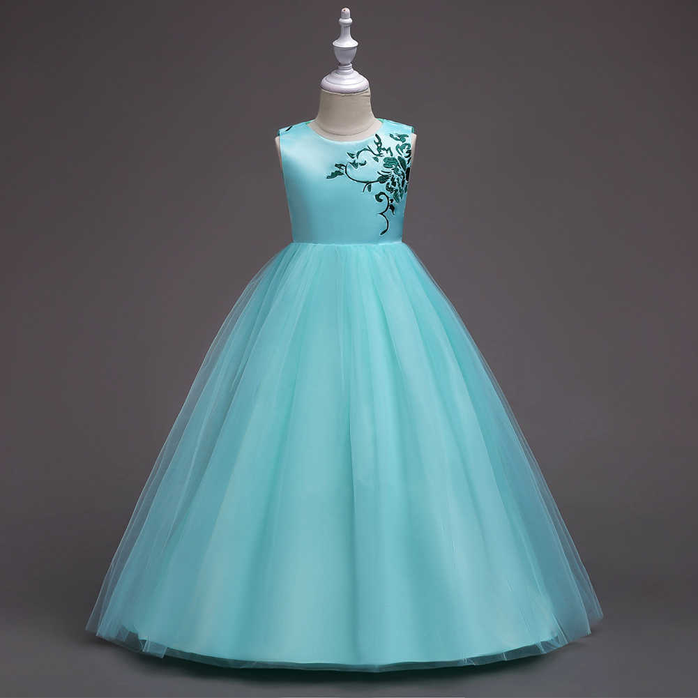 9c846c448aa8d Trendy Children Party Clothes Hot Pink Lavender White Mint Green Wedding  Dresses and Gowns Girls Fashion Clothes Summer 2018