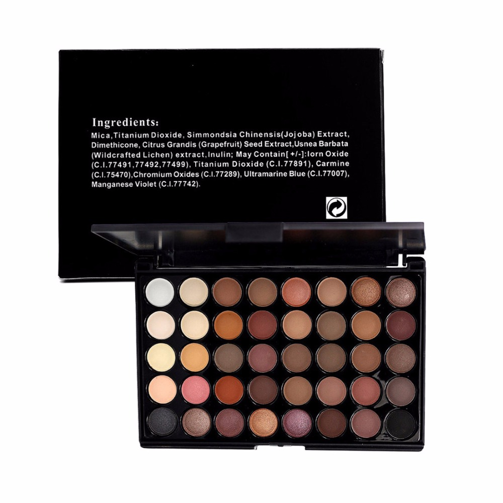 Smoky Matte And Vivid Style Eyeshadow Pallete Mixed Color